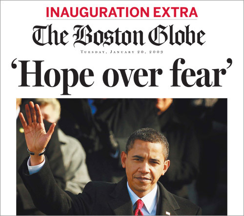 The Boston Globe was one of many US newspapers to launch an extra edition to commemorate Barack Obama's election. Scroll through this gallery to see some other papers around the world that led with the historic event. Get your copy of the Globe's extra edition