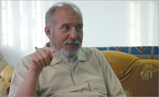 'Fathi Eljahmi, shown here near Tripoli in 2005, three years into his ongoing imprisonment for speaking out for democracy in Libya.'