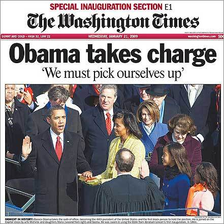 Look familiar? Both major Washington dailies used the same three words in their front-page headlines.