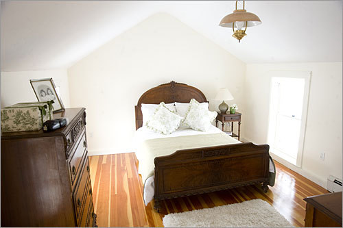The home's master bedroom is shown here.