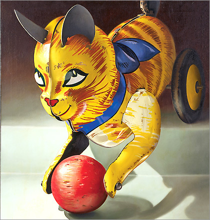 Charles Bell's 'Cat,' a gift of Jonathan Novak to the Rose Art Museum