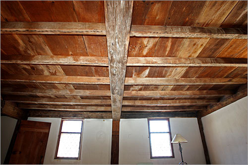 The beams in the south parlor.