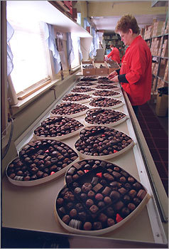 "7. Phillips Candy House Boston Founded in 1925, Phillips Candy House is the oldest chocolatier in Boston, and has maintained a reputation for quality products, an assessment with which Woodfine would agree. She appreciated the size of the confections, hailing them as not too big, not too small, and particularly enjoyed the way peanuts were roasted in one particular truffle. ""The nuts are really nice in it,"" she said. ""I love the use of the milk chocolate. The eye quality just doesn't do it for me."" Available online at www.phillipschocolate.com as well as retail stores in Boston and Quincy."