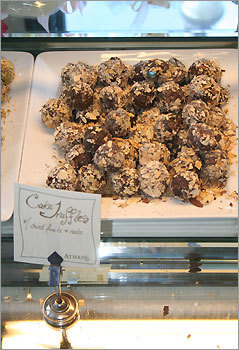 "6. Athan's Bakery Brookline Proving they're more than just about the fabulous coffee and bakery items on the menu, Brookline's Athan's found itself right in the middle of the pack with its truffles, which Woodfine enjoyed for their ""interesting"" texture, almost like a Munchkin. On Athan's coated offering, however, Woodfine was less impressed. ""It's very important to get the chocolate as thin as possible, and that one is very thick. It's difficult to bite into."" Available at Athan's Brookline (1621 Beacon Street) and Brighton (407 Washington Street) locations."