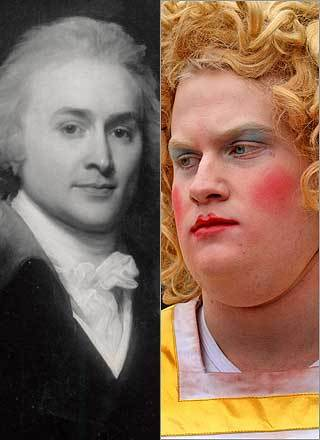 Ever wonder what President John Quincy Adams (left) would have looked like in drag? If he had joined Harvard University's Hasty Pudding Club about two centuries later, we may have found out. Now that Renée Zellweger has been honored as Hasty Pudding's Woman of the Year , take a look at some of the famous alumni of the oldest American theatrical organization, including four other commanders-in-chief. Video: Globe columnist Sam Allis shares his personal Pudding perspective