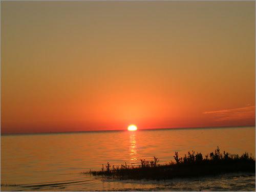 Sunset at Green Key Beach, Fla.