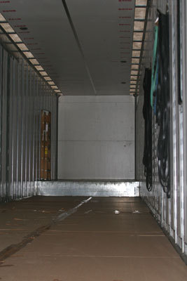 The inside of the truck was clean as a whistle before loading began.