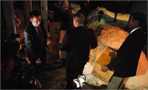 Authorities searched Lewis' home on Gore Street and a storage space he kept near his home. The Chicago office of the FBI announced on Feb. 4 the searches were connected to the 1982 killings. New evidence and tips that surfaced on the 25th anniversary of the slayings in 2007 led to the renewed investigation. Investigators were seen carrying out five boxes and an old MacIntosh computers from Lewis' residence.