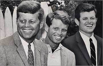 Jack, Bobby, and Ted Kennedy in Hyannis Port