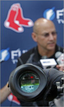 Francona answered questions from reporters outside the clubhouse as a TV camera filmed him Wednesday afternoon.