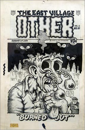 'Burned Out,' The East Village Other, cover from Feb. 11, 1970.