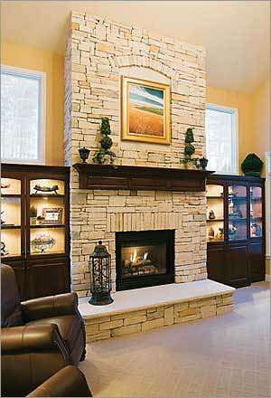 Boston globe sunday magazine globe for Fireplace half stone