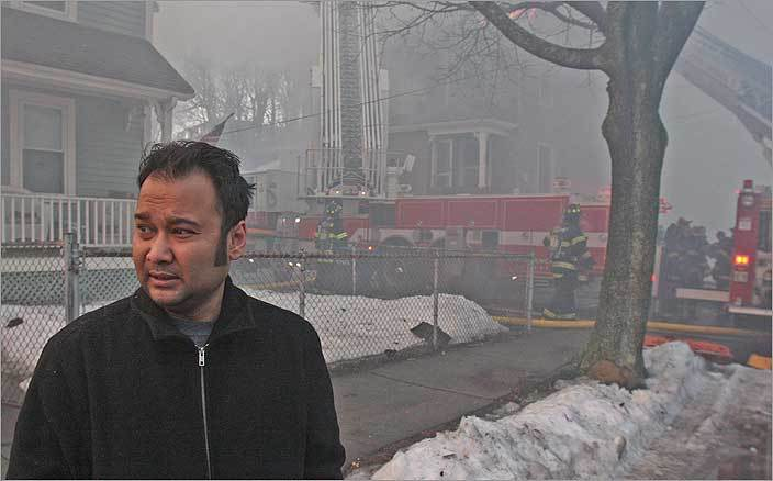 Abu Parvez, a resident of the building, said he led his wife and two children through the smoke-filled apartment to safety.