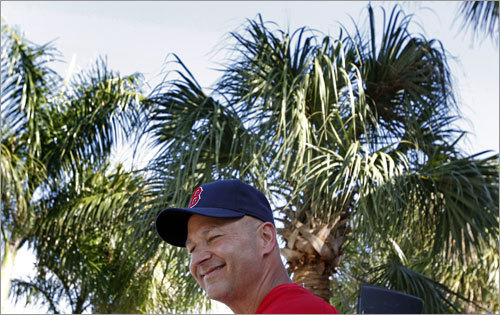 Red Sox manager Terry Francona conducted his daily press briefing.