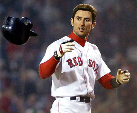 Shortstop: Nomar Garciaparra Nomar deeply resented the Sox' attempts to trade for Alex Rodriguez and rejected a four-year, $60 million contract extension before the 2004 season. To display his irritation, he milked a wrist injury even longer than necessary and was shipped to the Cubs in a four-team deal at the trading deadline for Doug Mientkiewicz and Orlando Cabrera. You know the rest.