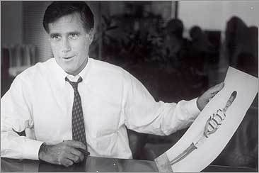 Before becoming governor of Massachusetts nearly a decade later, Mitt Romney challenged Ted Kennedy for his Senate seat in 1994.