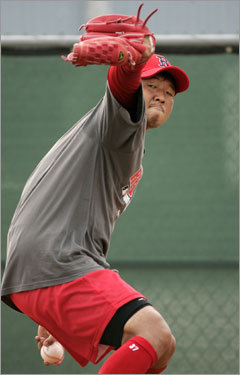 14. Hideki Okajima After nearly identical seasons with the Sox since arriving with little fanfare from Japan, the deceptive lefthander might rank as Theo Epstein&#146;s savviest signing, save for the man in the No. 1 spot. <!-- // define variables var date = new Date(); var current_time = date.getTime(); // write SCRIPT tag to browser document.writeln(' '); // -->