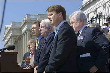 On a sweeping Patients' Bill of Rights package, Kennedy 'wanted McCain's name to be first, mine second and his third,' remembers John Edwards who at the time was a junior senator from North Carolina.