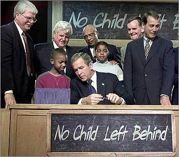 Kennedy grew increasingly annoyed with President Bush for failing to fully fund the No Child Left Behind law.
