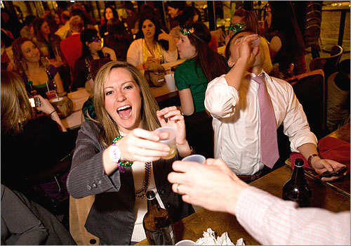 Kristin Mittelmark of Brookline toasted her husband, Marc, with a complimentary shot of Soco and lime at the party. More info on Dick's Last Resort SUBMIT Your nightlife photos! TALK What scene should we visit next?