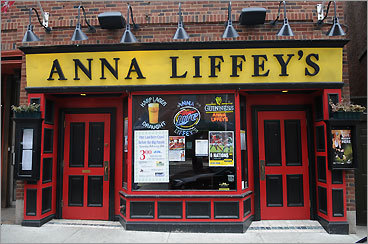 Anna Liffey's New Haven, Conn. Anna Liffey's is said to be the oldest Irish pub in New Haven. It frequently offers live music, and the city's St. Patrick's Day parade ends right outside its doors. 17 Whitney Ave., 203-773-1776.