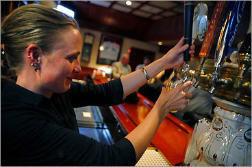 The Corrib Pub Brighton Bartender Imelda Kerins draws a beer at the Corrib Pub, in Boston's Brighton neighborhood. The pub, which opened in 1969, is named for Lough Corrib in Ireland and attracts many natives of County Galway who have settled in the area. 396 Market St., 617-787-0882.