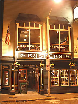 Buskers Newport, R.I. Buskers Pub sits on Thames Street in the heart of Newport, R.I. The pub serves nearly two dozen draft beers, and earned recognition as one of the best Irish pubs in the US from the Irish Voice newspaper. 178 Thames St., 401-846-5856.