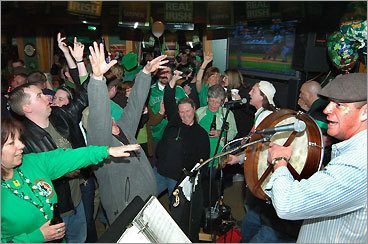 Patrick's Pub Providence The Garda Band and Patrick's Pub patrons celebrate St Patrick's Day 2008. The Providence pub is owned by Patrick Griffin, a native of Athlone, County Roscommon. The pub has been a proud sponsor of the Providence St. Patrick's Day Parade since 1993. 381 Smith St., 401-751-1553.