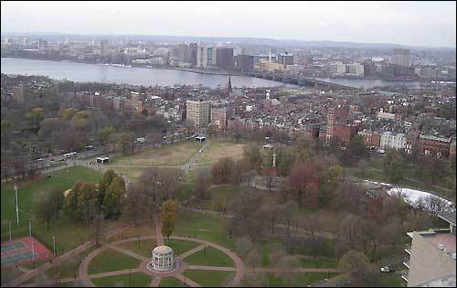 One of the major selling points for us was the amazing outdoor terrace, which overlooks most of Boston. The property has unobstructed views of the Public Garden, the Boston Common, The Charles River, Boston's Back Bay and the Waterfront.