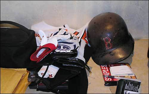 Other items found around the home included his trademark dingy batting helmet, his batting gloves, shoes and more.