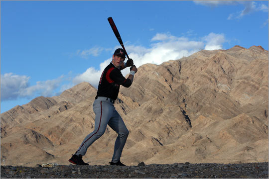 He's only 16, but Bryce Harper already has power as imposing as the mountains behind him.