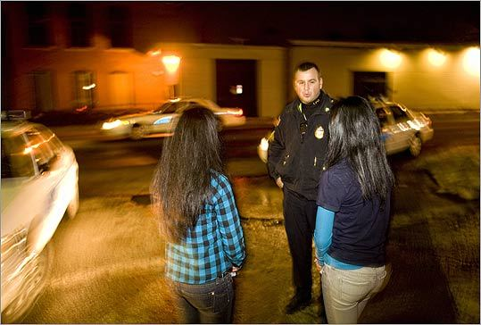 12:32 A.M. Sergeant David Peaslee of the Lowell Police Department Community Response Team talked to two girls who were violating the city's curfew last Saturday. The girls were escorted home.