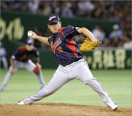 Daisuke Matsuzaka, RHP 2008 statistics: W-L ERA IP K BB 18-3 2.90 167.2 154 94 In-and-out of trouble, Matsuzaka had an edge-of-the-seat 18-3 season. It has never been easy with Matsuzaka over his two seasons with the Sox, but he usually seems to make it work. Most impressively, Matsuzaka faced 18 situations with the bases loaded, and never gave up a hit. He was the MVP of the WBC for the second straight time. No one can doubt he's a winner, no matter how he does it.