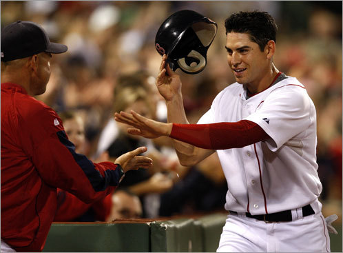 Jacoby Ellsbury, CF 2008 statistics: Avg. HRs RBIs Runs SB .280 9 47 98 50 With Coco Crisp traded, center field is all his - and he'll have to prove he can get on base enough to use his incredible speed. Cowed by the inside fastball last season, Ellsbury could not measure up offensively to his lofty reputation. This season, he'll look to improve on his .280 average and .336 OBP from the leadoff spot. If he does, Tommy Harper's club record for steals (54) will be in jeopardy.