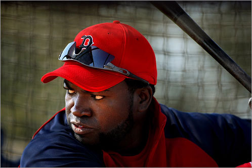 David Ortiz, DH 2008 statistics: Avg. HRs RBIs Runs SB .264 23 89 74 1 The tentativeness that resulted from his wrist injury appears to be gone. But there are no guarantees that Ortiz can reclaim the magic of past years in Fenway. Just as he might improve on his .264 average, 30 doubles, and 23 home runs of last season, he might just as easily prove that his status of being a dominant slugger in the middle of this lineup is nearing an end.