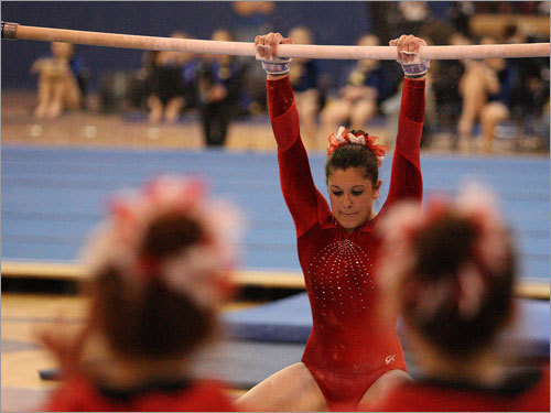 After edging Algonquin for the South Sectional title, the Barnstable girls weren't going to allow any suspense the next week at the state meet. The Red Raider gymnasts took care of business, winning their third straight title and seventh in nine years, recording a 144.75 score to second-place Masconomet's 143.65. ''This is one of the most talented squads I've ever coached,'' said Barnstable coach Duncan Chase. And Chase needed that talent. Four of the eight teams in the state fi nal scored better than 140 points. ''It's an amazing feeling,'' said junior Leah Pacheco.