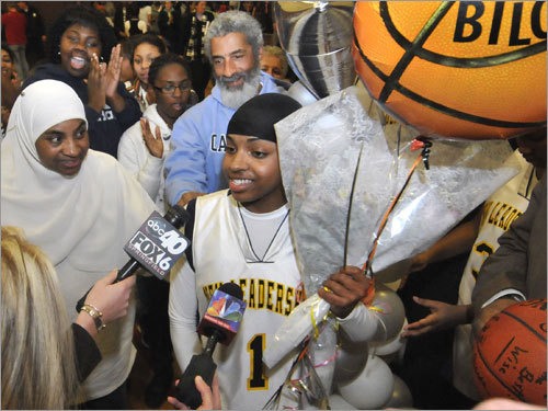 Maybe Springfield is a little outside the Globe's normal coverage area but you have to admit the accomplishments of New Leadership's Bilqis Abdul-Qaadir were anything but normal. In her final season at the Springfield charter school, the 5-foot-3-inch guard became the state's all-time leading scorer with 3,061 points, breaking the record held by Rebecca Lobo. She's the only player in state history to crack the 3,000 mark after a senior year in which she averaged 41.8 ppg. And you haven't seen the last of Abdul-Qaadir. She will attend the University of Memphis.