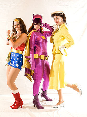 'Superheroine Monologues' players Shawna O'Brien as Wonder Woman, Melissa Baroni as Batgirl, and Amanda Good Hennessey as Lois Lane posed at the convention. More info on the Back Bay Events Center SUBMIT Your nightlife photos! TALK What scene should we visit next?