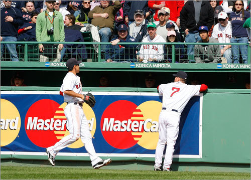 April 7-9, 2009 The rivalry cooled a bit in 2009. The Rays won two out of three games in the first series of the season against the Red Sox, but ultimately ended up in third place in the AL East with a 84-78 record. The Red Sox finished at 95-67 in 2009, winning the wild card, but fell to the Angels in a three-game sweep in the ALDS. Here, Jacoby Ellsbury and J.D. Drew watched a home run off the bat of Shawn Riggans on April 9.