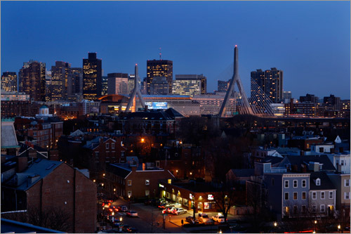 The lights went off on the Boston landmark April 9, as the Massachusetts Turnpike Authority sought to save $5,000 monthly on electricity.