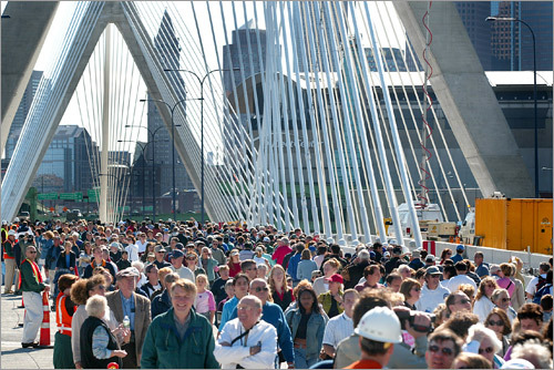 On Oct. 6, 2002, up to 800,000 people walked along the sun-drenched span of the Zakim bridge in a well-organized outing for the ages.