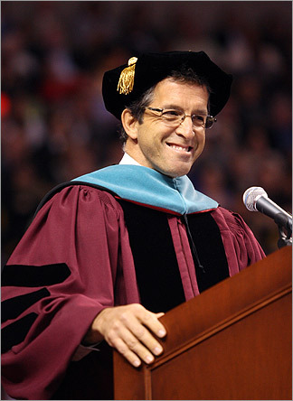 Fashion designer Kenneth Cole delivered the keynote address to Northeastern University's graduating class on May 1.