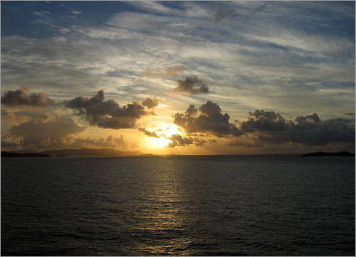 Marie captured this sunrise in St. Maarten.