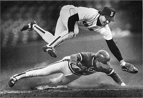 As a player, Remy was a prototypical Dirt Dog. He could field and run (41 steals in 1977 with the California Angels), and he could hit line drives (hitting .300 in 1980 and 1981). He didn't exactly have Pedroia-like power, though. After he hit his first home run in the big leagues, a chastened Jim Perry, the aging Cy Young winner who surrendered the long ball, was traded the next day.
