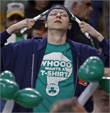 A Celtics fan was in disbelief after the Green were upset by the upstart Bulls on Saturday afternoon.