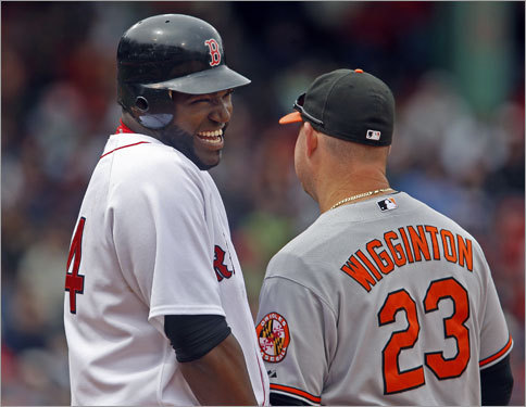 Ortiz and the Red Sox had a laugher of a day at Fenway Park.