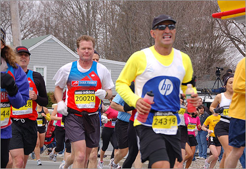 Runners in Ashland gritted their way through the middle portions of the race.