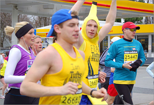 This banana-clad marathoner mugged for the camera in Ashland.