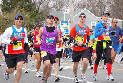 Multicolored marathoners made their way through Ashland in this photo submitted by reader Maina Tran.