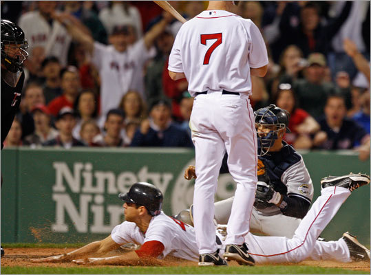 Jacoby Ellsbury stole home in the fifth inning of the Red Sox' 4-1 triumph over the New York Yankees Sunday night, highlighting a three-game sweep at Fenway Park. Check out our gallery of shots from the play.